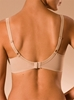 C Essential T-Shirt Bra, back view in Ultra Nude
