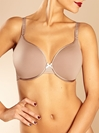 Chantelle C Ideal Full Coverage Plunge T-Shirt Bra in Hazelnut