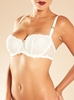 Chantelle Champs Elysées Lace Unlined Underwire Demi Bra in ivory - alternate front view