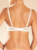 Chantelle Champs Elysées Lace Unlined Underwire Demi Bra in ivory - back view