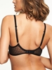 Courcelles Convertible Smooth Push-Up Bra, back view in Black