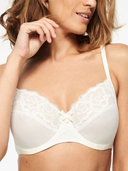 Chantelle Orangerie Lace Unlined Underwire Bra in Ivory