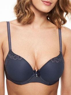 Chantelle Orangerie Smooth T-Shirt Underwire Bra in Mist Grey