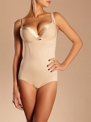 Basic Shaping Open Bust Bodysuit in Ultra Nude