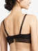 Blanche Lace Plunge Unlined Underwire Bra n Black, Back View