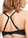Chantelle Absolute Invisible Push-Up Bra in Black, Back View Racerback