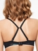 Absolute Invisible Smooth Soft Contour Bra in Black, Back View with J-Hook