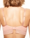 Chantelle Blanche Lace Plunge Unlined Bra in Peach Delight, Back View