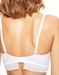 Chantelle Blanche Lace Plunge Unlined Bra in White, Back View