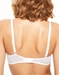 Chantelle Blanche Lightweight Lace Bra in White, Back View