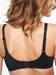 C Magnifique Nouveau Seamless Unlined Minimizer Bra in Black, Back View
