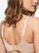 C Magnifique Nouveau Seamless Unlined Minimizer Bra in Nude Sand, Back View
