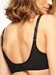 C Magnifique Sexy Seamless Unlined Minimizer Bra in Black, Back View