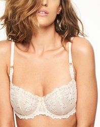 Chantelle Champs Elysées Lace Unlined Underwire Demi Bra in Nude Cappuccino