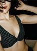Chantal Thomass Galanterie Underwire Bra in Black Pinstripe