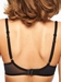 Courcelles Convertible Lightweight Spacer Underwire Bra, Back View in Black