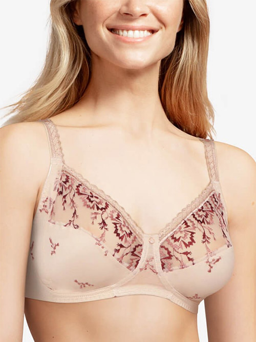 Chantelle Every Curve Full Coverage Wireless Bra in Nude Blush Multicolor