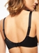 Hedona Seamless Underwire Bra in Black, Back View