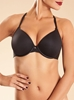 Chantelle Modern Invisible Smooth Custom Fit Underwire Plunge Bra in black