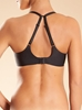 Chantelle Modern Invisible Smooth Custom Fit Underwire Plunge Bra in black - back view