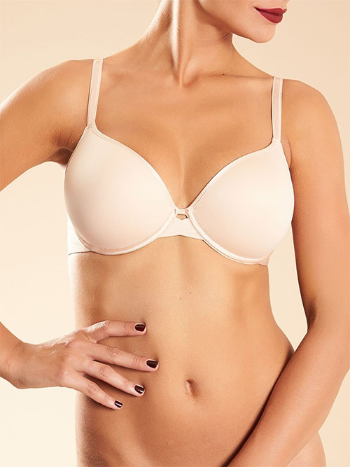 Chantelle Modern Invisible Smooth Custom Fit Underwire Plunge Bra in nude blush
