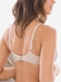 Chantelle Orangerie Lace Plunge Underwire Bra in Nude Rose, Back View