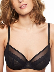 Chantelle Parisian Allure Unlined Plunge Bra in Black