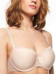 Pyramide Smooth Underwire Demi Bra in Nude Blush