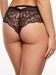 Chantelle Segur Lace Hipster Panty in Black, Back View