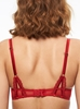 Chantelle Segur Lace Push-Up Underwire Bra in Scarlett Red, Back View