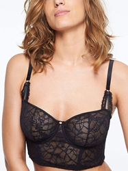 Chantelle Segur Lace Underwire Bustier in Black