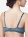 Chantelle Shadows 3-Part Plunge Underwire Bra in Abysse, Back View