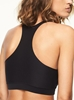 Chantelle Soft Stretch One Size Crop Top in Black, Back View