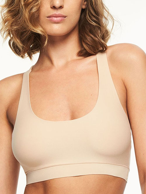 Chantelle Soft Stretch One Size Crop Top in Ultra Nude