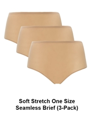 Chantelle Soft Stretch Seamless Brief in Ultra Nude, 3-Pack