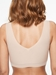 Chantelle Soft Stretch Padded V-Neck Bra Top in Nude Sand, Back View