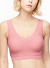 Chantelle Soft Stretch Padded V-Neck Bra Top in Rose Tutu