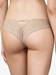 Chantelle Spirit Lace Thong Panty in Nude Blush, Back View