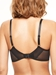 Chantelle Wagram Lace Unlined Plunge Bra in Black, Back View