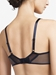 Chantelle Wagram Lace Unlined Plunge Bra in Midnight Blue, Back View