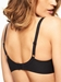 Chantelle Orangerie Smooth T-Shirt Underwire Bra in Black, Back View